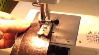 ジャノメLC7500ミシンで本革を試し縫いしました