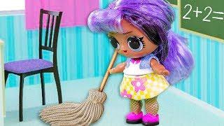 ЗОЛУШКА В ШКОЛЕ! Мультики куклы лол и Барби, Подруги Буги Вуги