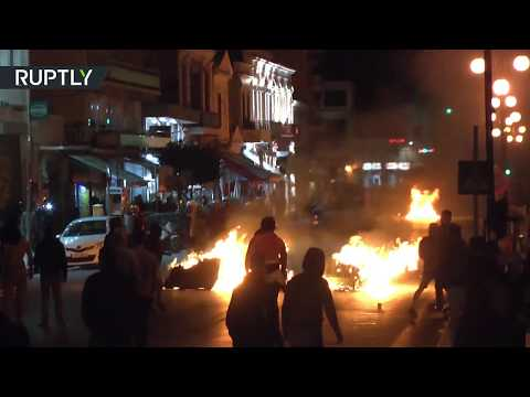 Rising tensions: Greek right-wing extremists target Mytilene refugee protest camp