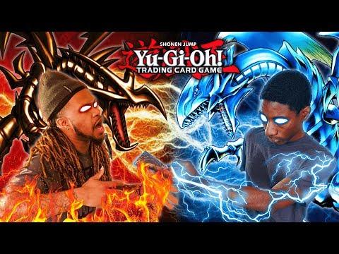 Blue-Eyes White Dragon VS Red-Eyes Black Dragon! Yu-Gi-Oh Theme Duel!