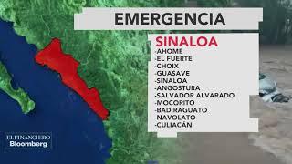 Tormenta tropical 19-E deja bajo el agua a 11 municipios en Sinaloa