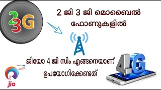 How to use jio 4G sim in 2G 3G mobile phones