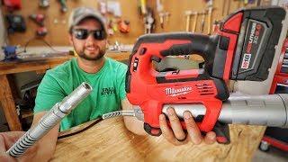 Milwaukee M18 Grease Gun Review Lawn Care Equipment Maintenance