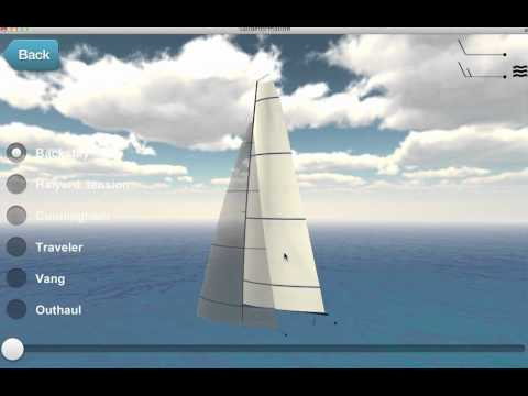 Video of sailtrim upwind one