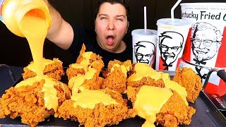 Cheesy KFC Chicken • MUKBANG
