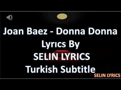 joan Baez Donna Donna Lyrics  + türkçe altyazılı