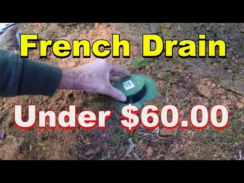Do it Yourself, French Drain, Under $60.00