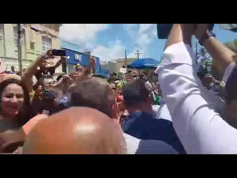 Presidente Bolsonaro arrastão uma multidão em Parnaíba PI