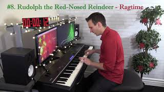 8 Christmas Songs in 6 Piano Styles in 1 Minute!