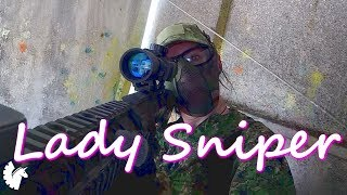 My First Time Sniping (SR25 Airsoft Sniper Girl)
