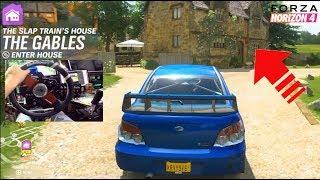 Forza Horizon 4 LP Ep1 - NEW House Purchase + Season Change! (Fanatec Wheelcam)  | SLAPTrain
