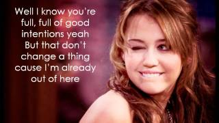 Miley Cyrus - See You in Another Life (lyrics)