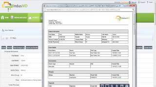 How to Print a Patient Record in IndusMD EMR