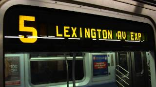 preview picture of video 'IRT Eastern Parkway Exp: Crown Heights-Utica Avenue bound R-142A 5 express train @ Franklin Avenue!'