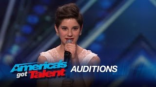 """Alicia Michilli: Shy Girl Sings """"I'd Rather Go Blind"""" by Etta James - America's Got Talent 2015"""