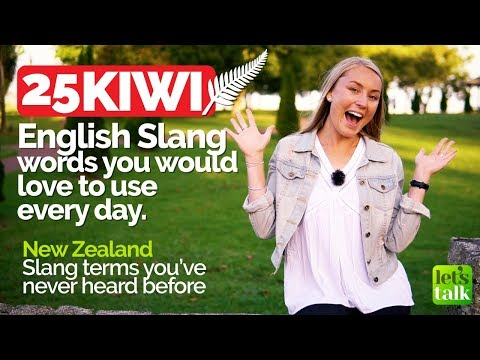 25 KIWI English Slang words