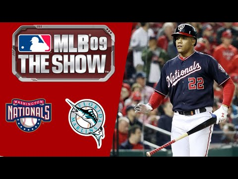 MLB 09 The Show PS3 Gameplay 2019 Washington Nationals Franchise Mode Ep.1