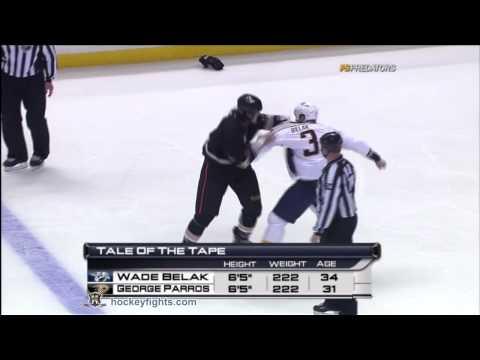 George Parros vs. Wade Belak