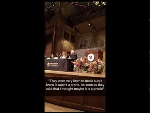 2015 Nobel news conference via Snapchat