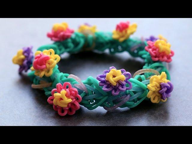 Rainbow-loom-monstertail-waterlily-charm