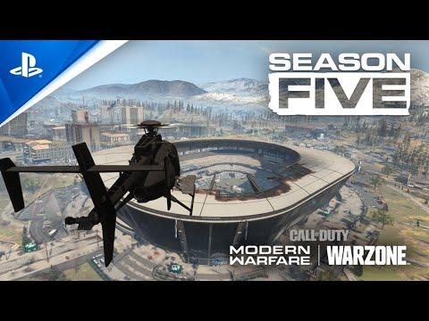 A Temporada 5 de Modern Warfare adiciona um Estádio, um trem e mais em Warzone