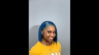 Blue Hair 💙 | Blunt Cut Bob | ALISUGAR HAIR