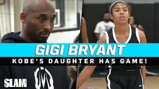 MAMBA JUNIOR!? Kobe Bryant's daughter Gigi has GAME! 🐍