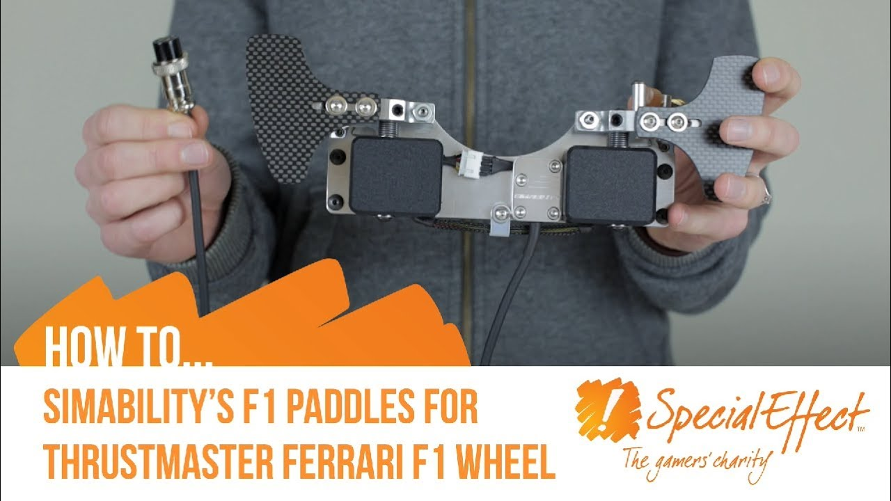 video placeholder for SimAbility's F1 Paddles for Thrustmaster Ferrari F1 Wheel