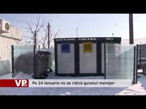 Pe 24 ianuarie nu se ridică gunoiul menajer