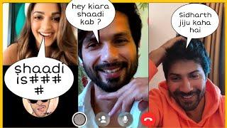 Kiara Advani, Shahid Kapoor and Varun Dhawan on  video call interview with Wizlo