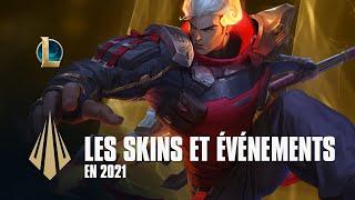 Skins et événements sur League of Legends pour 2021