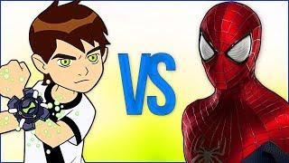 БЕН 10 VS ЧЕЛОВЕК ПАУК | СУПЕР РЭП БИТВА | Ben 10 Ten cartoon ПРОТИВ Spiderman movie
