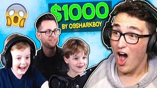 DONATING $1000 TO MINECRAFT STREAMERS! (EMOTIONAL)