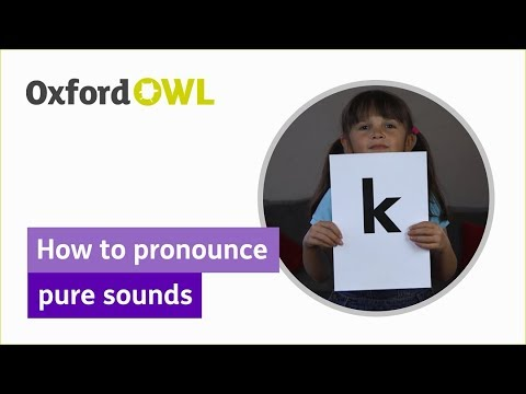 How to pronounce pure sounds - Oxford Owl