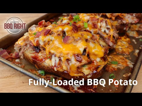 Fully-Loaded BBQ Potatoes with Pulled Pork