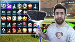 CLEANING OUT MY ROCKET LEAGUE GARAGE