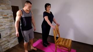 Cvičení pro seniory 1 - nohy, zadek, břicho, core.