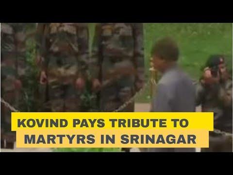 President Ram Nath Kovind pays tribute to martyrs in Srinagar