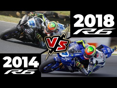 2014 R6 vs 2018 R6 at Phillip Island!