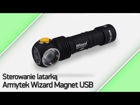 Sterowanie latarką Armytek Wizard Magnet USB