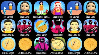 456 Survival,Squid Game,Squid Roysle,Squid Game 3D,Cookie Carver,Life Challenges,Craft Squid Game ..