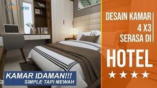 Menghitung Biaya Interior Kamar Tidur 4x3. Harga Terjangkau, Seperti Tidur Di Hotel Setiap Hari!