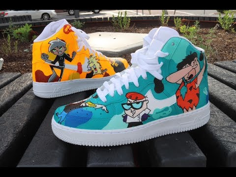 Video Thumbnail of CUSTOM CARTOON CHARATER AF1'S