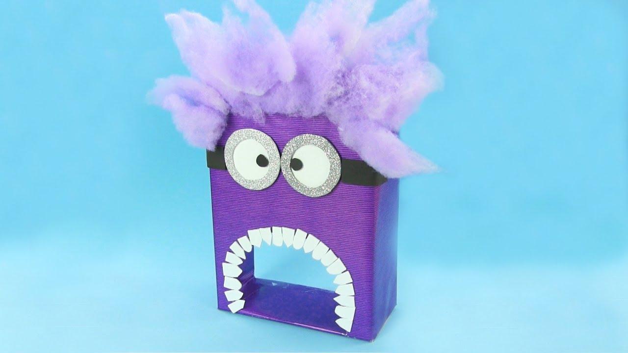 Cómo hacer un Minion tragabolas de juguete | Manualidades infantiles
