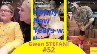 Gwen Stefani on New Year's Eve - snapchat - december 31 2016