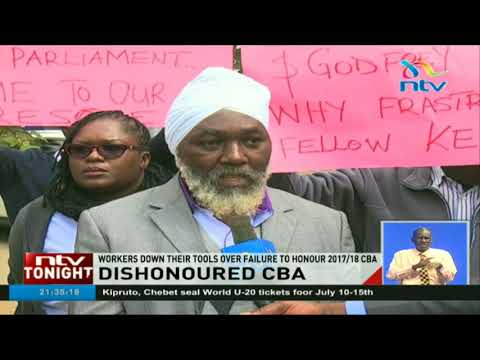 Laico Regency workers down their tools over failure by the hotel to honour 2017/18 CBA