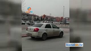 Konya trafiğinde kaydedilen görüntüler korkuttu
