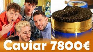 Oeufs de poisson 70€ VS Caviar 7800€/kg avec le Velcrou