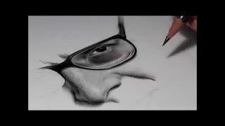 Drawing Pencil Hyperrealism – Time-lapse – RITRATTO VITTORIO SGARBI – Silvia Pagano Art