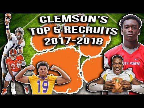 Clemson National Champs 2019???- Clemson's Top 5 Recruits 2017-2018